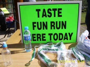 Notice for TASTE sponsored fun run
